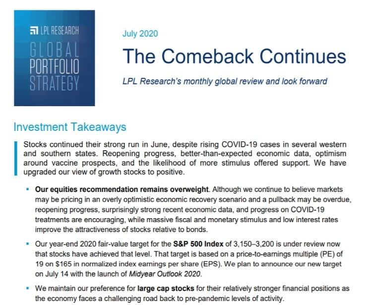 Global Portfolio Strategy | July 10, 2020